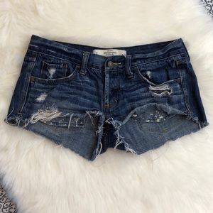 Abercrombie & Fitch Distressed Jean Denim Shorts 2
